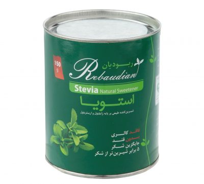 شیرین کننده طبیعی استویا ربوریان بر پایه اریتریتول و زایلیتول فله 150 گرمی